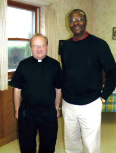 Fr. Justin Dyrwal of Assumption and Fr. Leveque Bien-Aime of Mirebalais